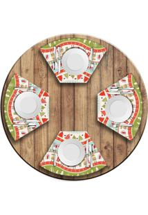Jogo Americano Para Mesa Redonda Wevans Happy Christmas. Love Decor