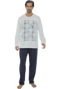 Pijama Masculino Recco Moletom 09086 - Masculino