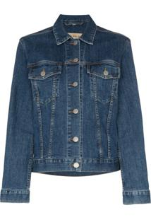 Burberry Jaqueta Jeans Rowledge - Azul