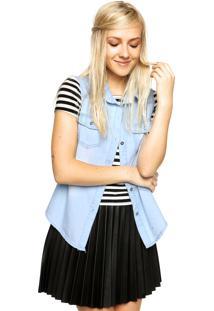 Camisa Jeans Fiveblu Lisa Azul