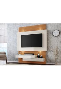 Painel Home Suspenso Para Tv Com Led Tb120L Off White/Freijó - Dalla C