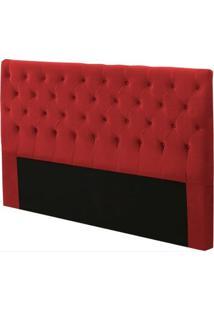 Cabeceira Para Cama Box Casal Cristal 140Cm Vermelho - Js Móveis