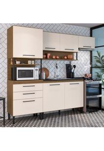Cozinha Compacta Romana 6 Pt 3 Gv Brunne E Off White