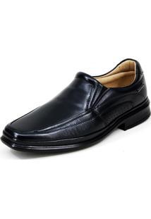 Sapato Social Mafisa Elástico Preto