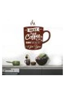 Adesivo De Parede Para Cozinha Xícara De Café 8 - Extra Grande