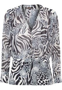 Camisa Feminina Brenda Selvaje - Animal Print