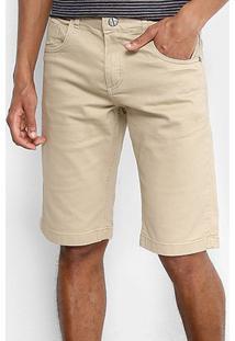 Bermuda Zamany Sarja Color Five Pockets Masculina - Masculino-Areia