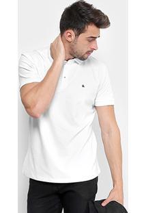 Camisa Polo Foxton Piquet Básica Masculina - Masculino-Branco