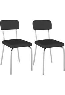 Cadeira Sixtie Cromada 2 Unidades Pc20 - Pozza Elare