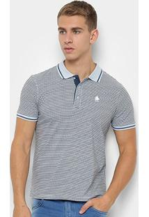 Camisa Polo Nyc - Norwich Yatch Club Estampa Listrada Masculina - Masculino-Azul Claro