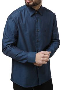 Camisa Manga Longa Elétron Azul