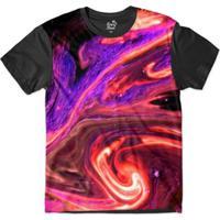 Camiseta Long Beach Psicodélica Lava Sublimada Masculina - Masculino-Roxo +Preto c3882419daa9c