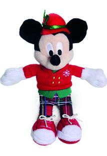 Enfeite Pelúcia Mickey Decoração Natal 15 Cm Vermelha