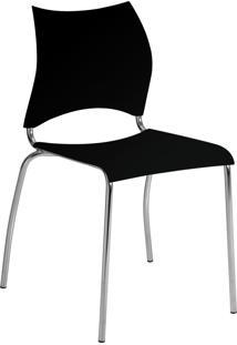 Kit 2 Cadeiras 357 Móveis Carraro Preto