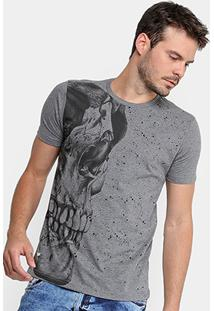 Camiseta Gangster Skull Masculina - Masculino