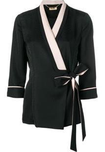 Liu Jo Side Tie Fitted Jacket - Preto