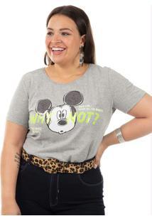 Blusa Plus Size Cinza Disney
