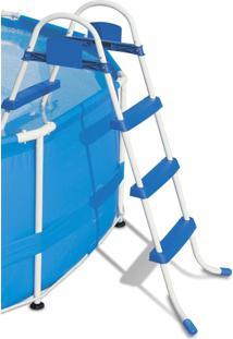 Escada Para Piscina Bel Lazer 3 Degraus Antiderrapante 97Cm