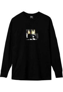 Camiseta Manga Longa Real King Masculina - Masculino