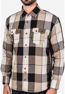 Camisa Hermoso Compadre Xadrez Com Bolso Masculina - Masculino