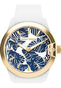 Relógio Analógico Mormaii Mo2035It-8B Feminino - Feminino-Branco+Azul