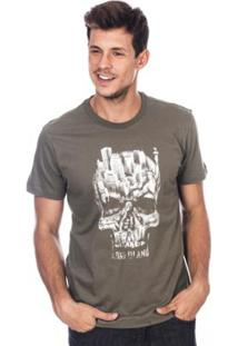 Camiseta Long Island City Masculina - Masculino-Verde Militar