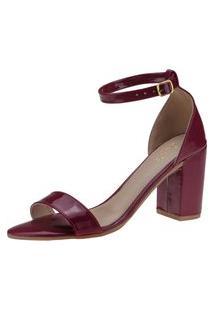 Sapato Feminino Sandalia Confortavel Bordo Duas Tiras Salto Grosso 2 Opção De Amarrar Joys