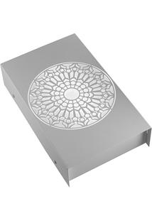 Arandela Em Aço Bivolt Reta Rosácea Católica Branca 6000K Luz Branca
