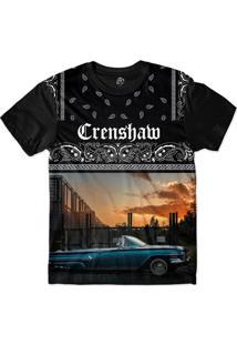 Camiseta Bsc Crenshaw Blue Lowrider Sublimada Preto