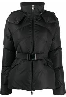 Moncler Belted-Waist Padded Jacket - Preto