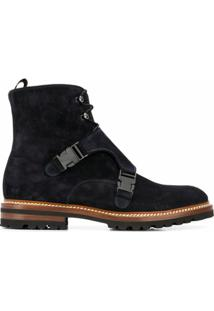 Kiton Front Buckle Ankle Boots - Azul