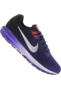 Tênis Nike Zoom Structure 21 - Masculino - Azul Escuro/Prata