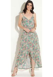 Vestido Quintess Floral Liberty Com Transpasse