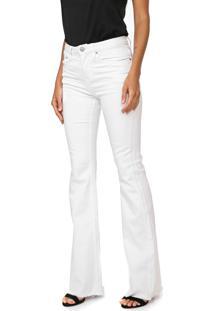 Calça Sarja Calvin Klein Jeans Flare Color Branca