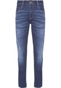Calça Masculina Jeans 5 Pockets Skinny - Azul