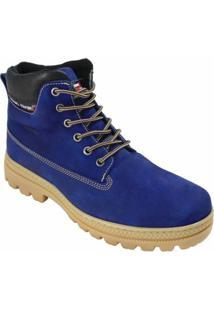 Bota Coturno Atron Shoes Urbana - Masculino-Azul