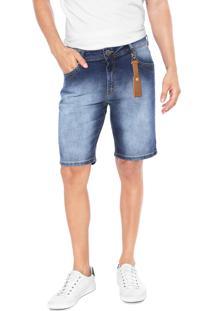 Bermuda Jeans Dimy Slim Brad Azul
