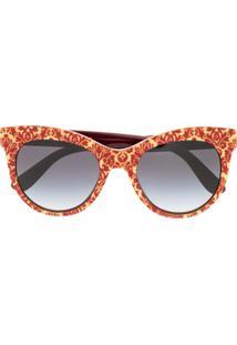Dolce & Gabbana Eyewear Cat-Eye Shaped Sunglasses - Vermelho