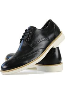 Sapato Social Oxford Casual Masculino - Masculino-Preto