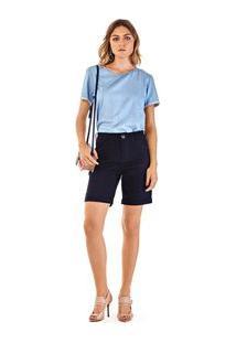 Bermuda Alfaiataria Amaciada Jeans