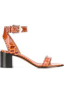Givenchy Sandália Com Aplicação De Tachas - Marrom