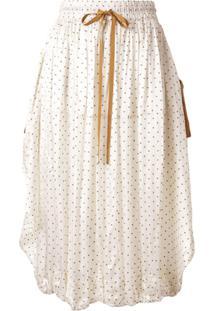 Lee Mathews Drawstring Dotted Skirt - Branco