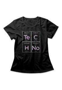 Camiseta Feminina Techno Preto
