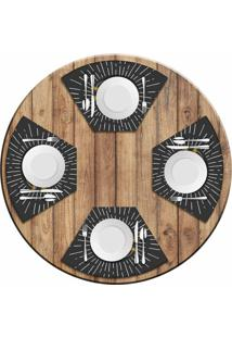 Jogo Americano Love Decor Para Mesa Redonda Wevans Hambúrguer Kit Com 4 Pçs