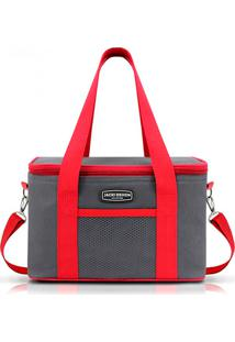 Bolsa Térmica Unissex Média Jacki Design Semi Rígida Vermelha