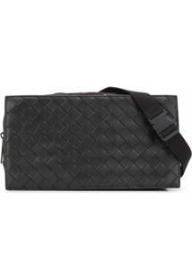 Bottega Veneta Intrecciato Shoulder Bag - Marrom