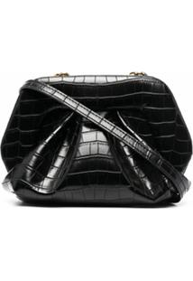 Themoirè Clutch Gea - Preto