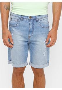 Bermuda Jeans Triton Reta Estonada Masculina - Masculino