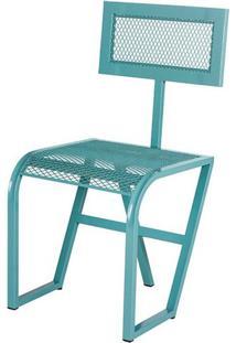 Cadeira Tuli Estrutura Em Tubo Tela Expandida Cor Azul - 54242 - Sun House