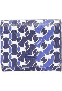 Carteira Abstrata - Azul Marinho & Azul - 11X11X3Cmlacoste
